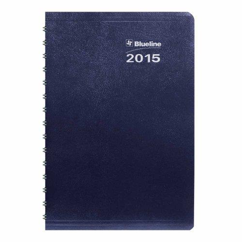 Rediform Blueline 2015 Duraglobe Daily Planner, Twin-Wire...