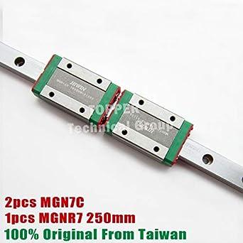 Ochoos MGN7C Miniature MGN Slider con 250 mm MGNR7 Guía lineal 7 ...