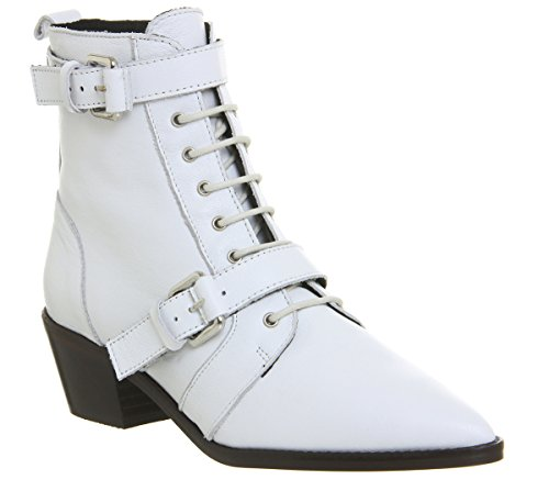 Office Boots Up Lace Ambassador Leather Off White nwB0Ofqv