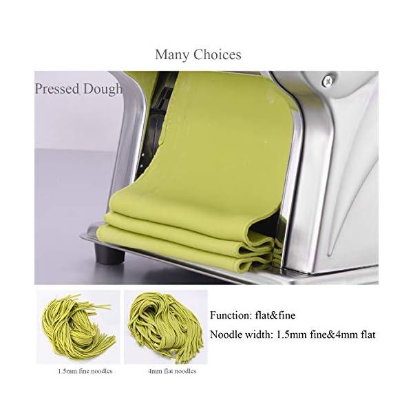 CGOLDENWALL Macchina per la Pasta Elettrico Wonton Maker Acciaio Inossidabile 6 Regolabile per Spaghetti Pasta e Lasagne… 2