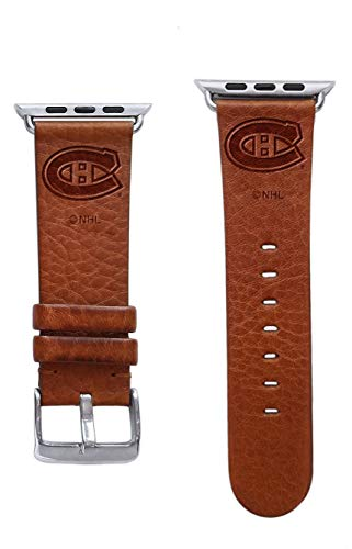 Game Time Montreal Canadiens Premium Leather Band Compatible with Apple Watch