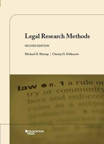 Legal Research Methods (Coursebook) PDF