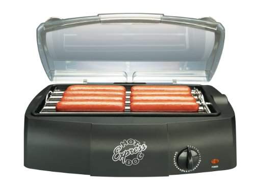 Hot Dog Express Countertop Hot Dog Electric Cooker, Cooks Up to 8 Hot Dogs Sausages, Kielbasa, Hamburgers and More image