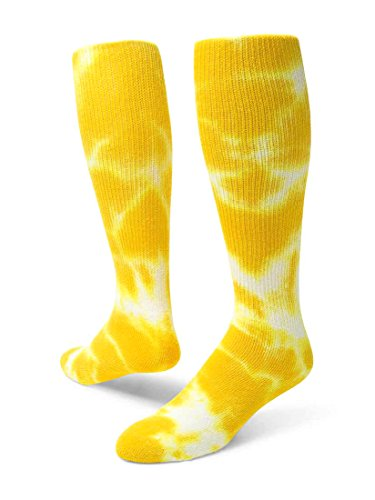 Red Lion Revolution Tie Dye Cotton Athletic Tube Socks (Gold Tie Dyed - Small)