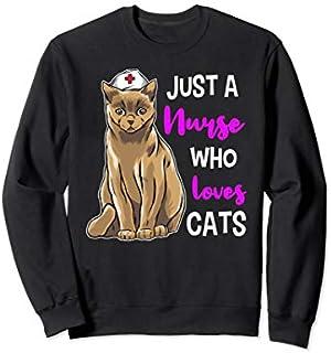 Nurse Cat  Cat Lover Nursing Nurses Cat Gift Sweatshirt T-shirt | Size S - 5XL