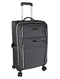 "Air Canada 24"" Spinner Suitcase with 2"" Compartment Grey"