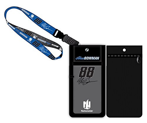 Alex Bowman  88 Nationwide Nascar Deluxe Credential Holder W  Lanyard