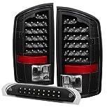 06 ram led 3rd brake light - Xtune ALT-JH-DR02-LED-SET-BK Tail Light (Dodge Ram 02-06 1500 / Ram 2500/3500 03-06 LED with LED 3rd Brake Lamps- Black)