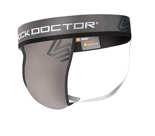 Shock Doctor Mens Core Jockstrap Support with Soft Cup, Grey, ()