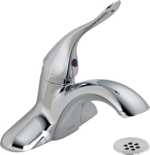 Delta Commercial 516LF-HDF Classic Single Handle Centerset Bathroom Faucet, Chrome California Faucets Supply Elbow