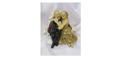 Goldpaar Auf Sofa Goldhochzeitspaar 50hochzeitstag Figur Goldene Hochzeit Deko Goldenes Hochzeitspaar Goldenes Brautpaar Tischschmuck