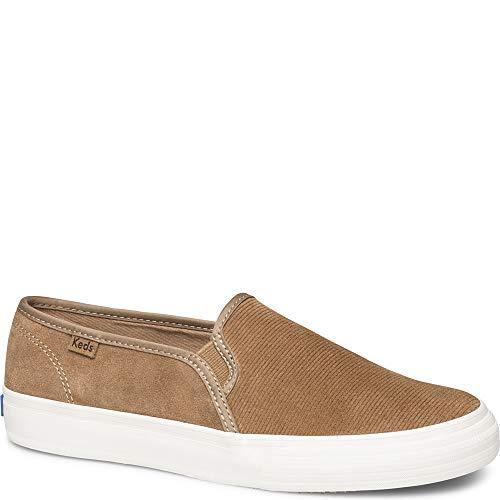 Keds Women's Double Decker Suede Sneaker, Brown, 9 M US