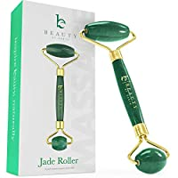 Jade Roller for Face – Face & Neck Massager for Skin Care, Facial Roller to Press Serums, Cream and Oil Into Skin, Lymphatic Drainage Massager Skin Care Tool, Eye Massager and Neck Roller (1 Pack)