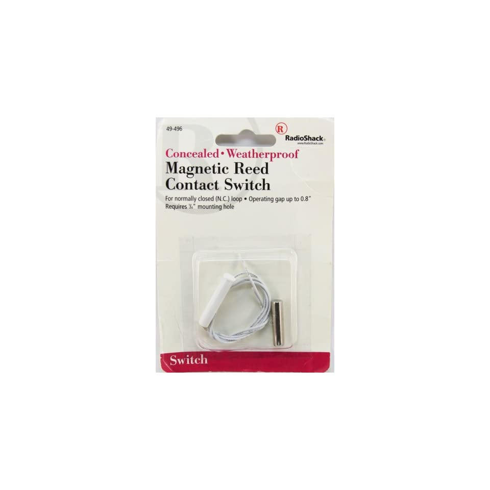 Radioshack Concealed Weatherproof Magnetic Reed Contact Switch
