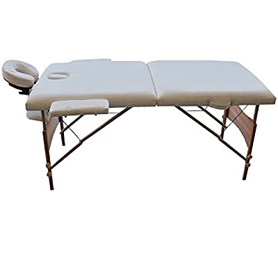 "New 84""l Portable Massage Table Facial SPA Bed Tattoo W/free Carry Case White Ship USA"