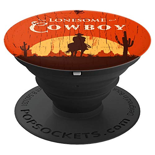 (Cool Distressed Cowboy Rustic Vintage Wild Wild West Cactus - PopSockets Grip and Stand for Phones and Tablets)