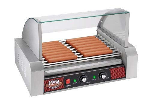 Great Northern Mad Dawg Commercial 9 Roller Stainless Steel Hot Dog Machine With Cover by Great Northern Popcorn Company (Image #1)