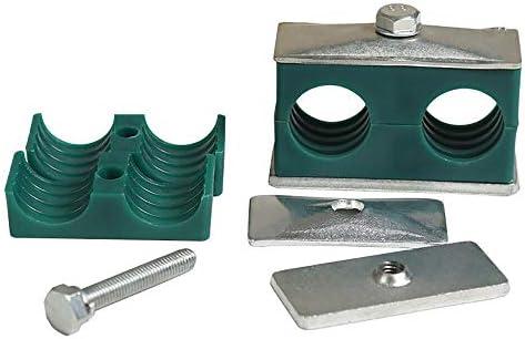 de pl/ástico para metalurgia industria qu/ímica Supertool 2 unidades petr/óleo Pinzas para tuber/ías hidr/áulicas con doble agujero
