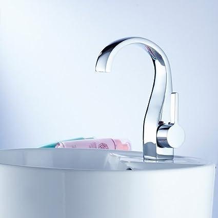 Deck Mount One Single Handle Centerset Bathroom Sink Faucet Chrome ...