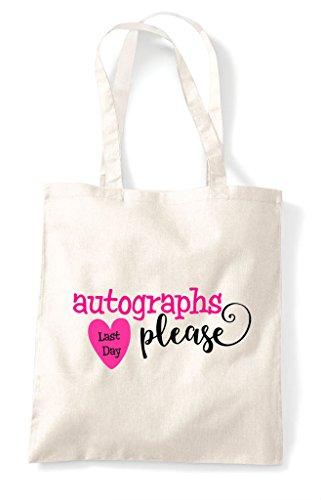 Autographs Last Please Natural Shopper Day Bag Tote z6qxwr56S