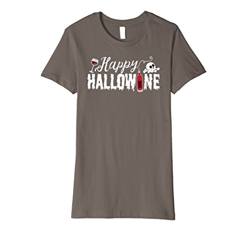 Wine Moscato Bottle Costume (Womens PREMIUM - Cute Happy Hallowine Funny T-Shirt for Halloween Small)