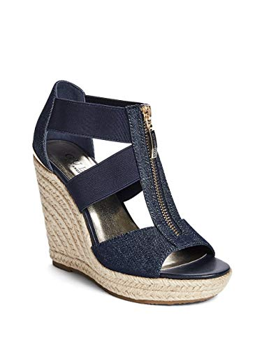 GUESS Factory Women's Lora Zip-Front Espadrille Wedges from GUESS Factory