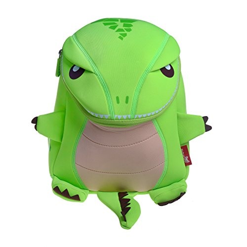 Ofun Toddler Backpack Gift For kids 1-6 years old 3D Simulate Dinosaur Green
