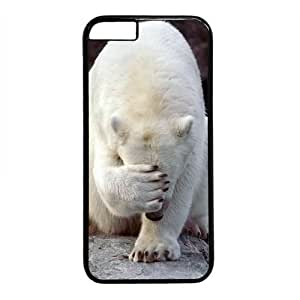 "Polar Bear Theme Case for iPhone 6 Plus (5.5"") PC Material Black"