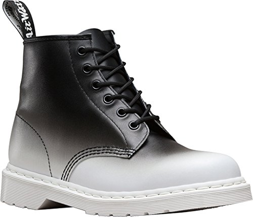 Dr Martens Boot Women's Black 101 White 6 Eye ffRrqdS