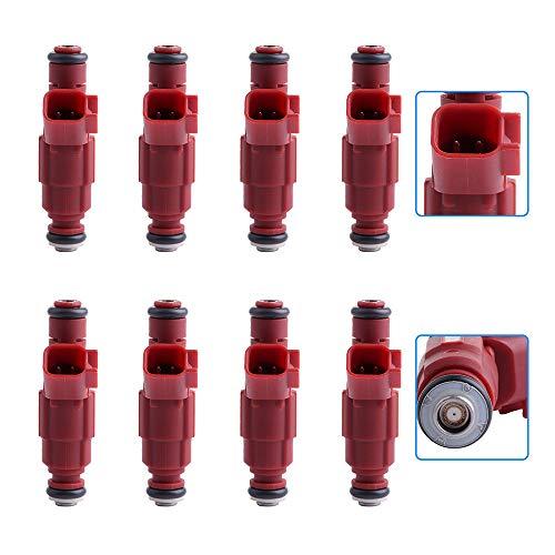 (cciyu Injectors, 1 Hole Fuel Injectors Set fit for Dodge Dakota/Durango/Ram 1500/Ram 1500 Van/Ram 2500/Ram 2500 Van/Ram 3500/Ram 3500 Van Compatible with 0280155934 Injector,8 Pieces )