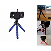 Mini holder Flexible Sponge Octopus Stand Tripod Mount For Cell Phone Camera Video Phone (Blue )