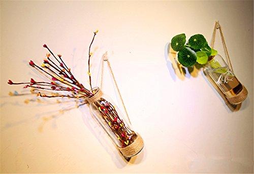 KWXHG Las Paredes están Decoradas jarrones de Cristal Decorado a Mano Botellas de Agua-bae, Sencillas y Elegantes Adornos Decorativos, una Botella vacía de ...