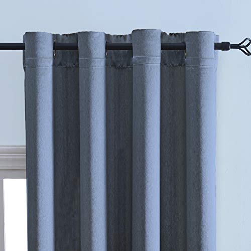 DWCN Blackout Thermal Insulated Room Darkening Curtains Faux