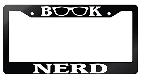 book-nerd-glossy-black-plastic-license-plate-frame-97