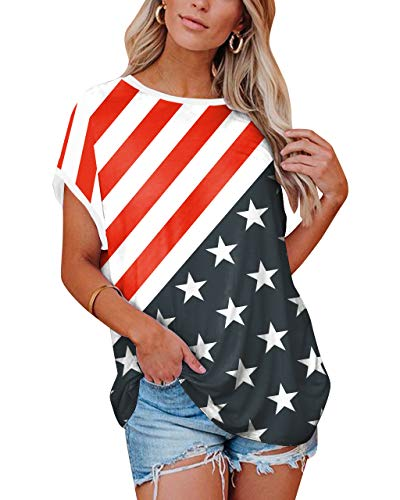 American Flag Patriotic Top