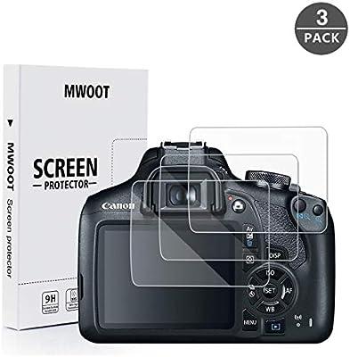 MWOOT 3 Unidades Protectores de Cristal Templado para Canon EOS ...