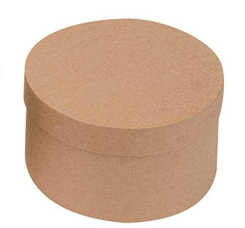 Glorex Round Cardboard Storage Box - Natural - 10 x 10 x 5.5 cm ()