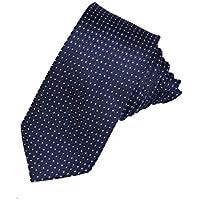 Adorn Premium Jacquard Slim Tie For Men (Navy Blue)