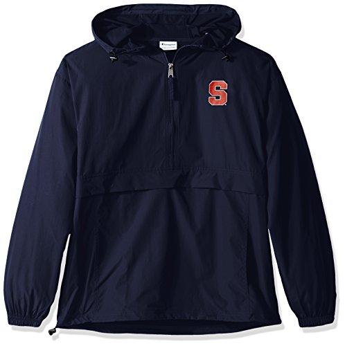 Champion NCAA Men's Half Zip Front Pocket Packable Jacket Syracuse Orange Medium
