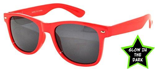 Men Women Red Frame Vintage Smoke Lens Sunglasses Retro 80's - Framed Red Sunglasses