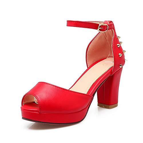 Ballerine 35 Rosso Red EU Donna AN DIU01221 1AC8qxwx6