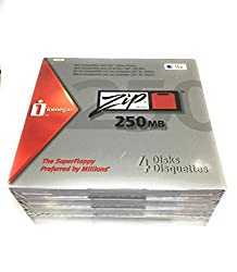 Iomega 11067 Zip 250 Mb Disks Mac Formatted (4-pack) (Discontinued By Manufacturer)