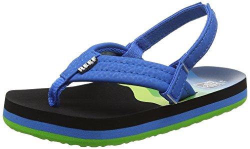 Reef Ahi Boys' Flip Flop, Aqua Blue, 5/6 M US Toddler