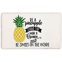 """Candy House Indoor Super Absorbs Mud Be A Pineapple Doormat For Front Door Inside Floor Dirt Mats Non-Slip Entrance Rug 23.6""""x 15.7"""""""