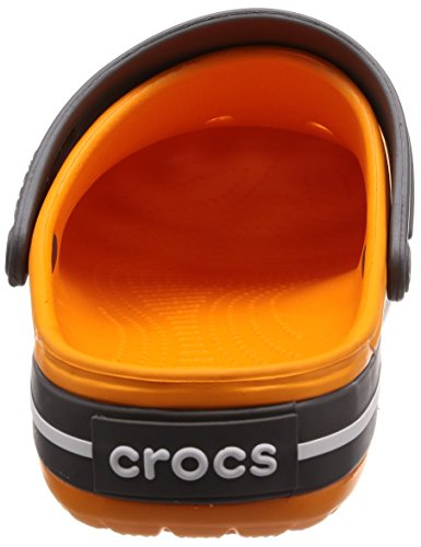 Crocband Slate crocs Grey Gummistiefel Orange Blazing Damen 5wqqXP6B