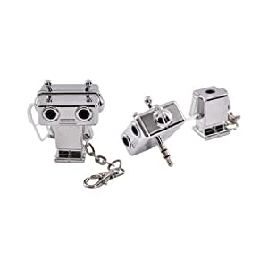 Silver Robot (3.5mm) Original DCI Universal Audio Headset Splitter