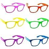 Lot of 6 Nerd Glasses Buddy Holly Wayfarer Clear Lenses