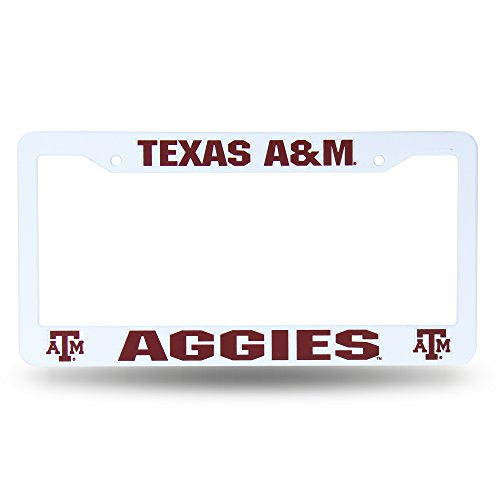 (Texas A&M Aggies Official NCAA 12 inch x 6 inch Plastic License Plate Frame by Rico)