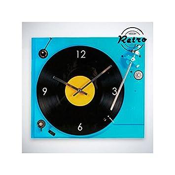 Reloj de Pared Retro Tocadiscos: Amazon.es: Deportes y aire libre