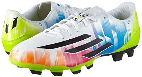 Adidas F5 TRX FG Lionel Messi - Zapatillas de fútbol para hombre - weiß / lime / blau